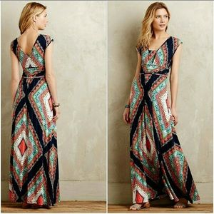 Anthropologie | Maeve Verda Maxi Dress LARGE
